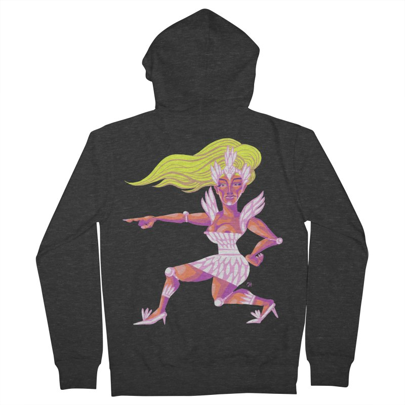 Drawing Pride No.9: Drag Women's French Terry Zip-Up Hoody by michaeljhildebrand's Artist Shop