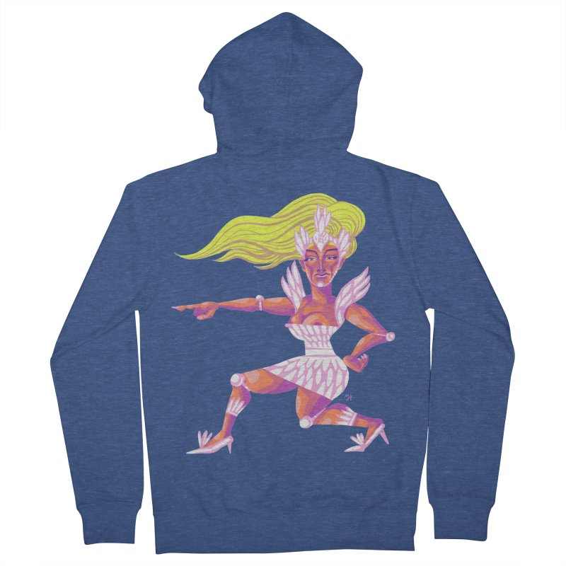 Drawing Pride No.9: Drag Women's French Terry Zip-Up Hoody by Michael J Hildebrand's Artist Shop