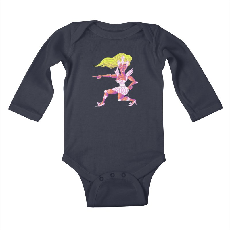 Drawing Pride No.9: Drag Kids Baby Longsleeve Bodysuit by Michael J Hildebrand's Artist Shop