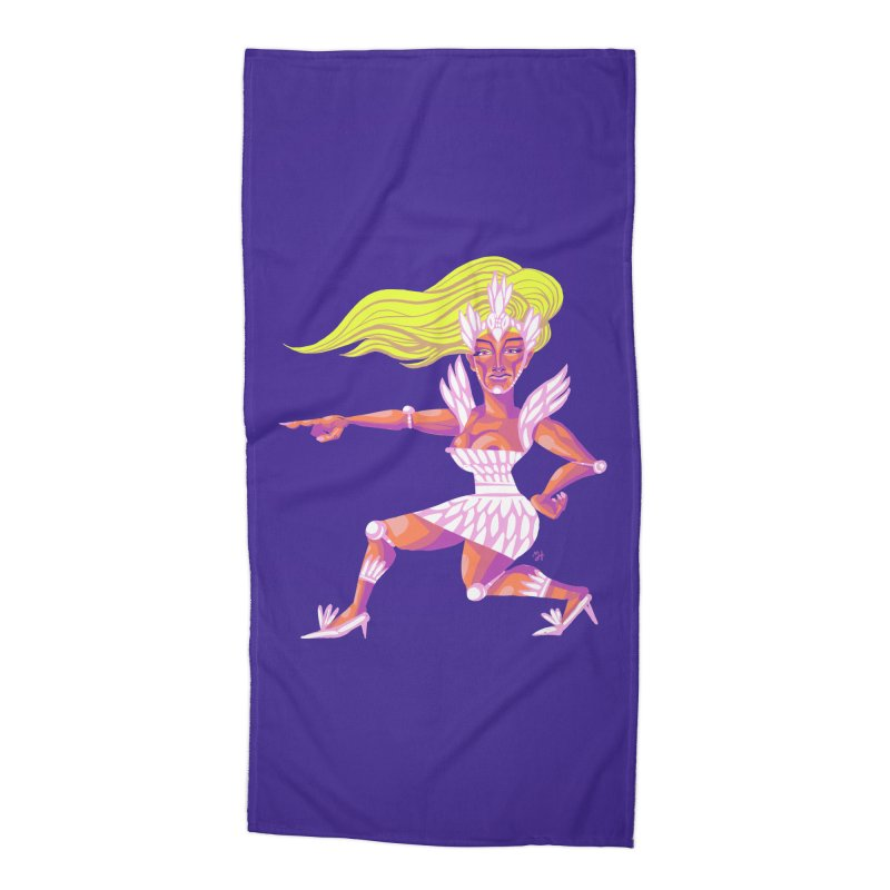 Drawing Pride No.9: Drag Accessories Beach Towel by Michael J Hildebrand's Artist Shop