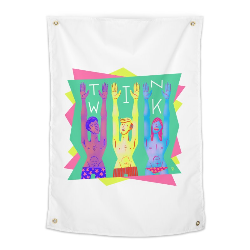 DrawingPride No.11: Twink Home Tapestry by Michael J Hildebrand's Artist Shop