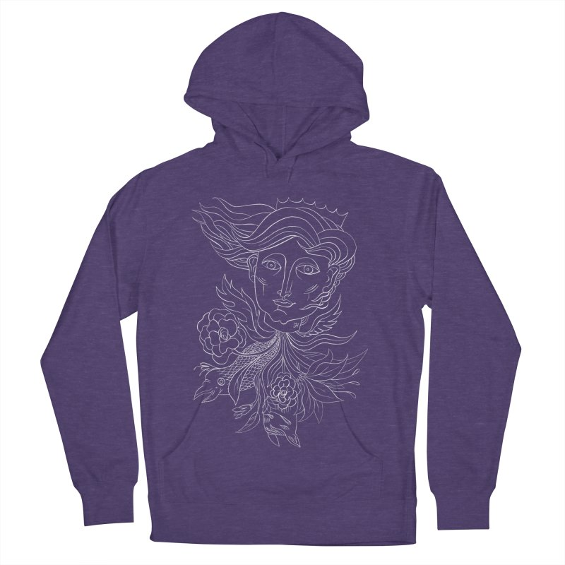Off With Her Head Men's French Terry Pullover Hoody by Michael J Hildebrand's Artist Shop