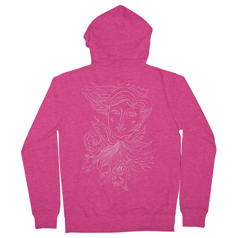 Off With Her Head Women's French Terry Zip-Up Hoody by Michael J Hildebrand's Artist Shop