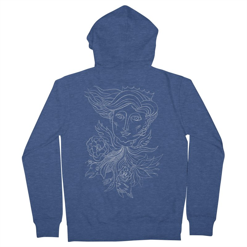 Off With Her Head Men's French Terry Zip-Up Hoody by Michael J Hildebrand's Artist Shop