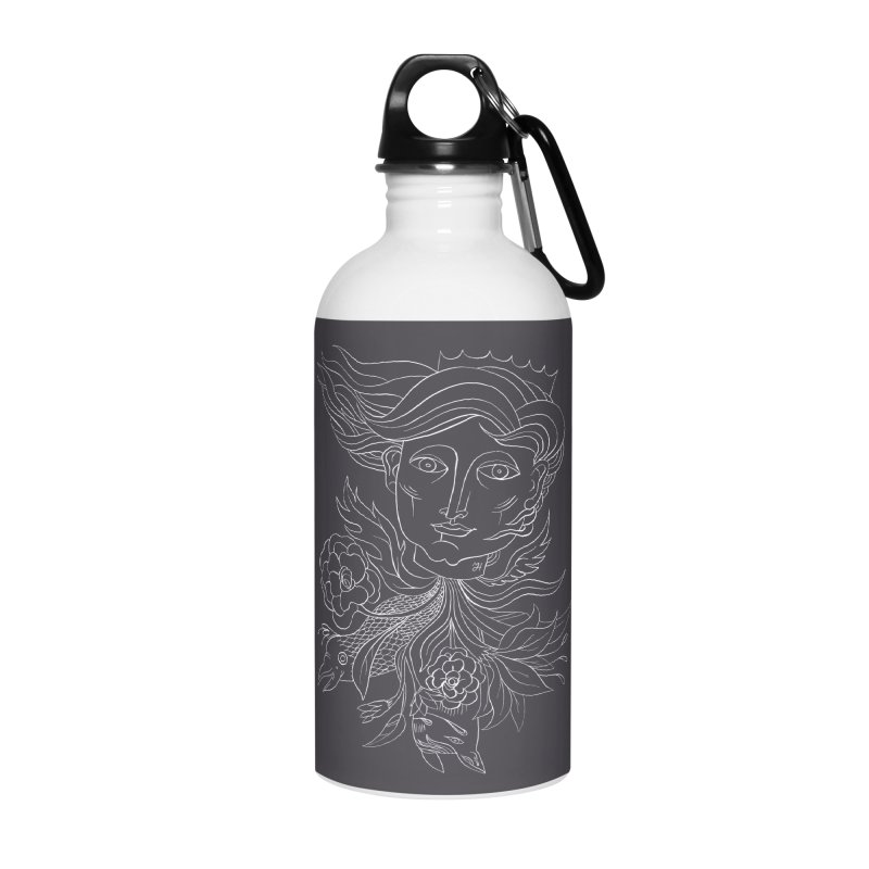Off With Her Head Accessories Water Bottle by Michael J Hildebrand's Artist Shop