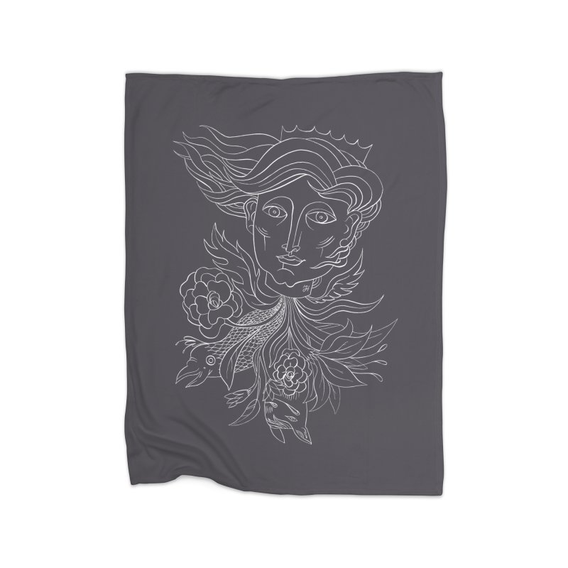 Off With Her Head Home Fleece Blanket Blanket by Michael J Hildebrand's Artist Shop