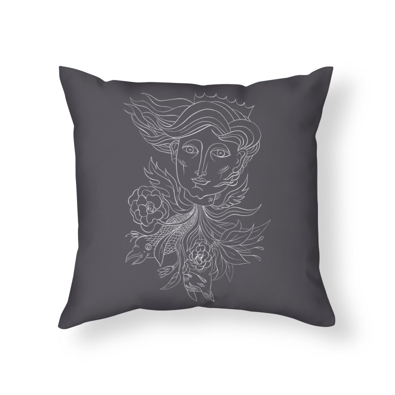 Off With Her Head Home Throw Pillow by Michael J Hildebrand's Artist Shop