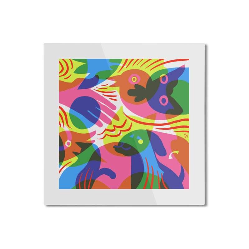 Rainbow (v1) Home Mounted Aluminum Print by Michael J Hildebrand's Artist Shop