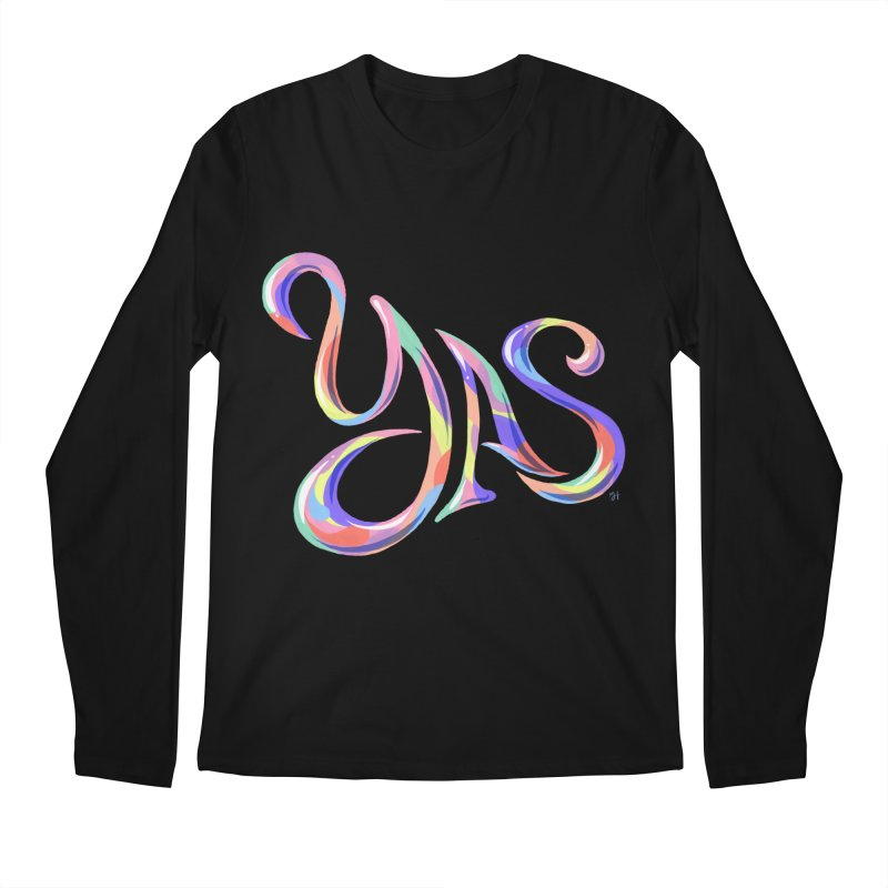 YAS! Men's Regular Longsleeve T-Shirt by Michael J Hildebrand's Artist Shop