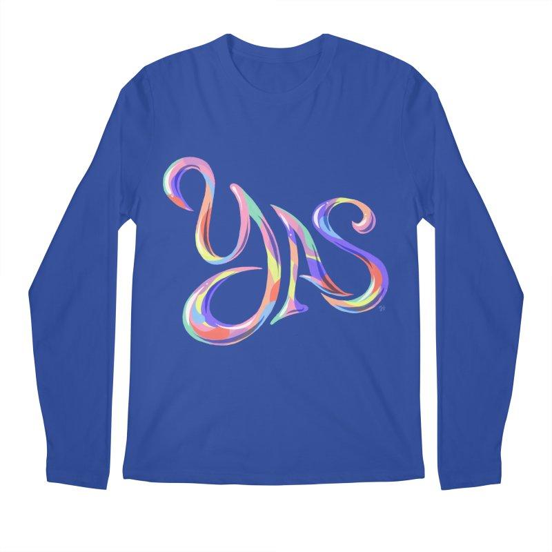YAS! Men's Regular Longsleeve T-Shirt by Michael J Hildebrand's Artist Shop