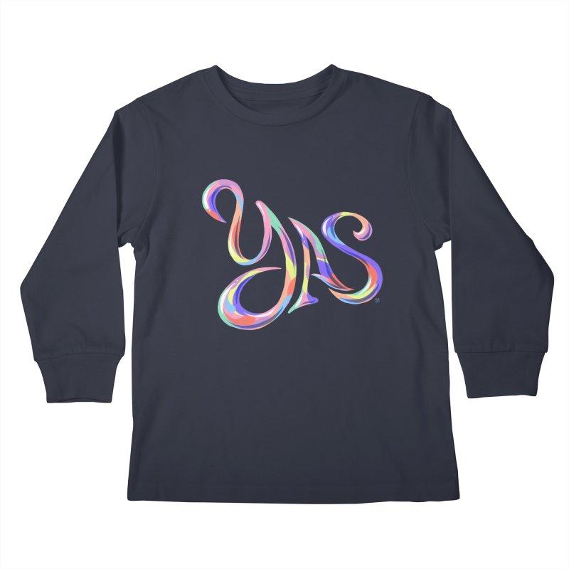 YAS! Kids Longsleeve T-Shirt by michaeljhildebrand's Artist Shop