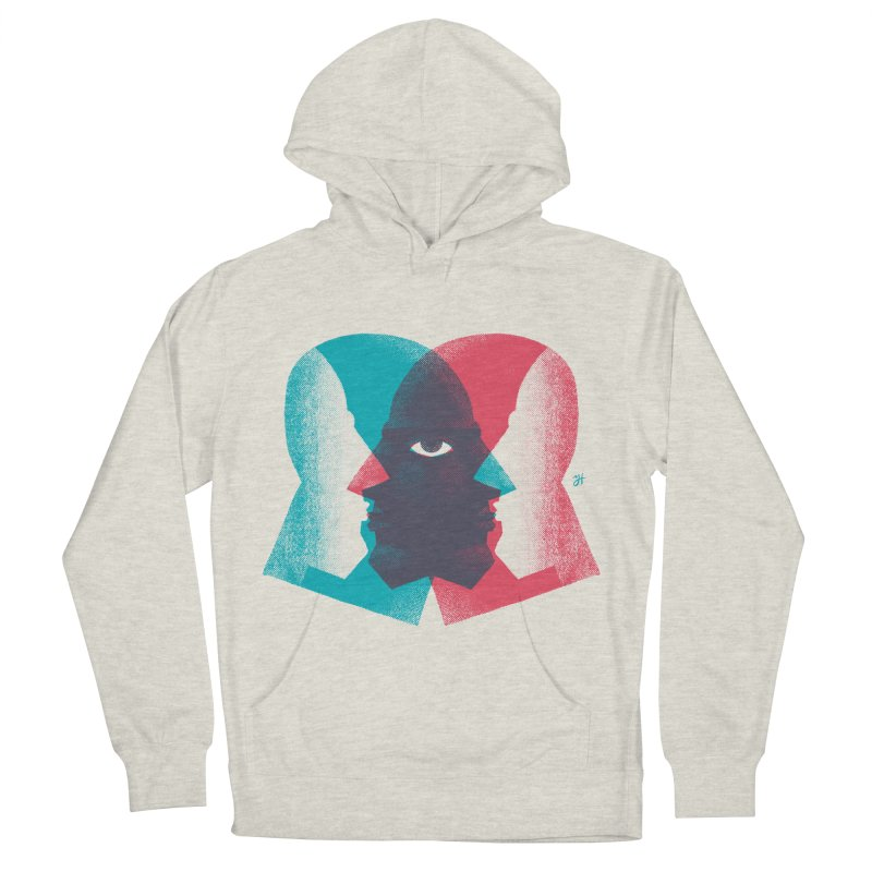 Meeting in the Middle Men's French Terry Pullover Hoody by Michael J Hildebrand's Artist Shop