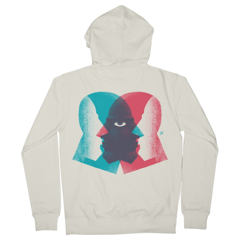 Meeting in the Middle Men's French Terry Zip-Up Hoody by Michael J Hildebrand's Artist Shop