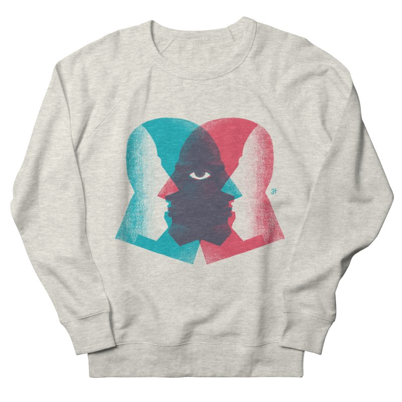 Meeting in the Middle Women's French Terry Sweatshirt by michaeljhildebrand's Artist Shop