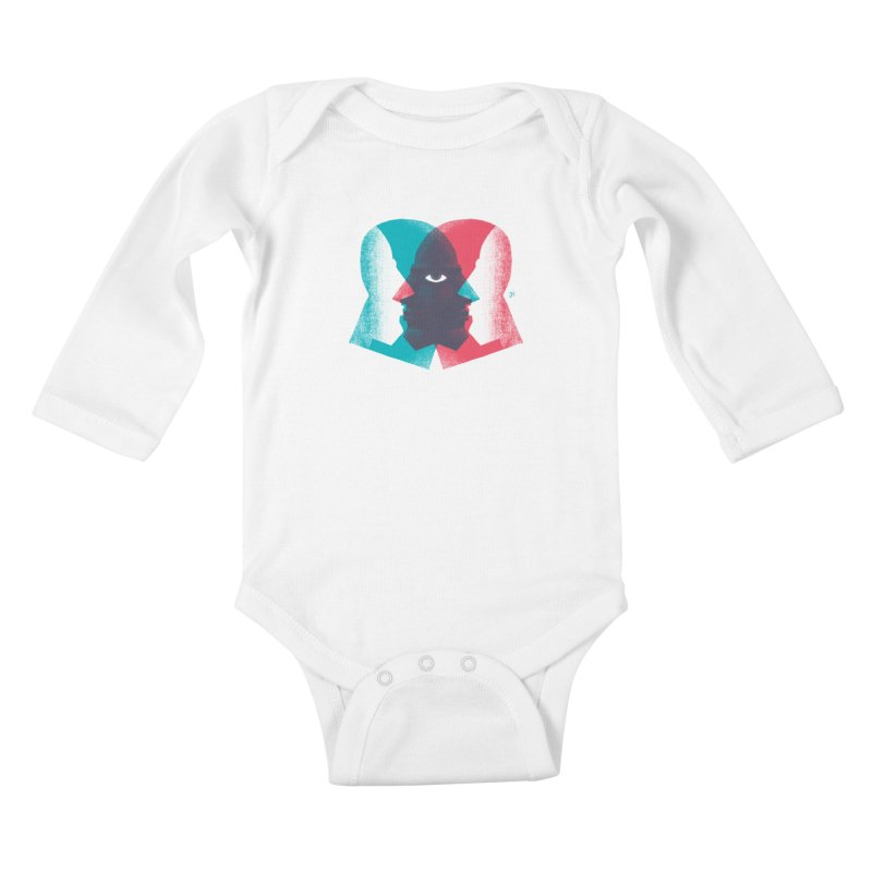 Meeting in the Middle Kids Baby Longsleeve Bodysuit by Michael J Hildebrand's Artist Shop