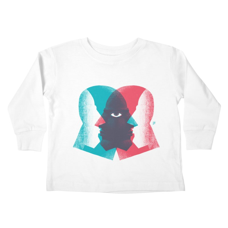 Meeting in the Middle Kids Toddler Longsleeve T-Shirt by Michael J Hildebrand's Artist Shop