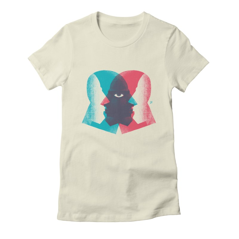 Meeting in the Middle Women's Fitted T-Shirt by Michael J Hildebrand's Artist Shop