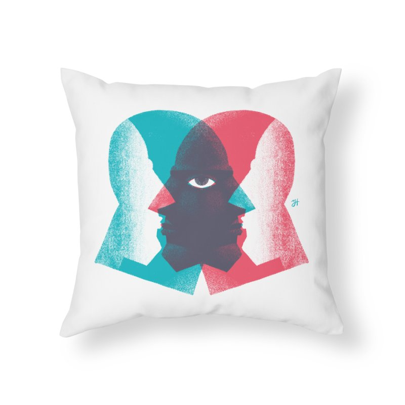 Meeting in the Middle Home Throw Pillow by michaeljhildebrand's Artist Shop