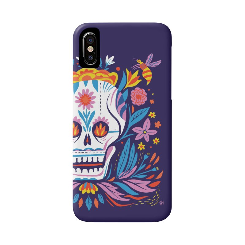 Día de los Muertos (night version) Accessories Phone Case by Michael J Hildebrand's Artist Shop