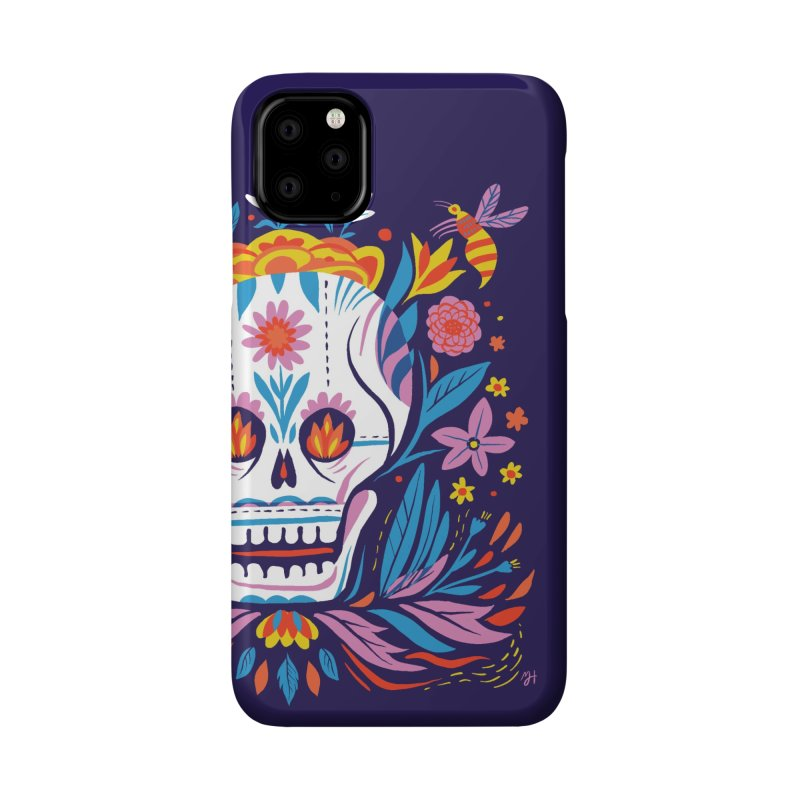 Día de los Muertos (night version) Accessories Phone Case by Michael J Hildebrand's Artist Shop