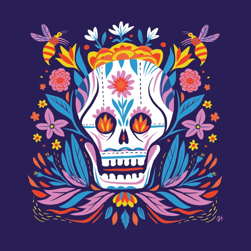 Día de los Muertos (night version)   by Michael J Hildebrand's Artist Shop