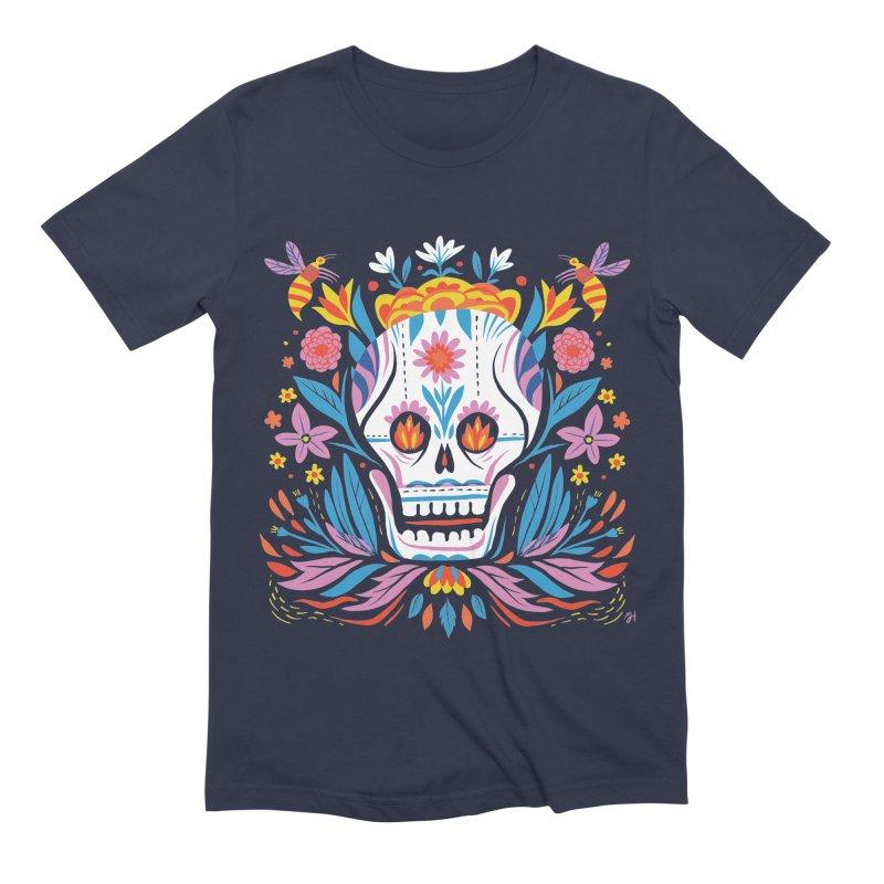 Día de los Muertos (night version) Men's Extra Soft T-Shirt by Michael J Hildebrand's Artist Shop