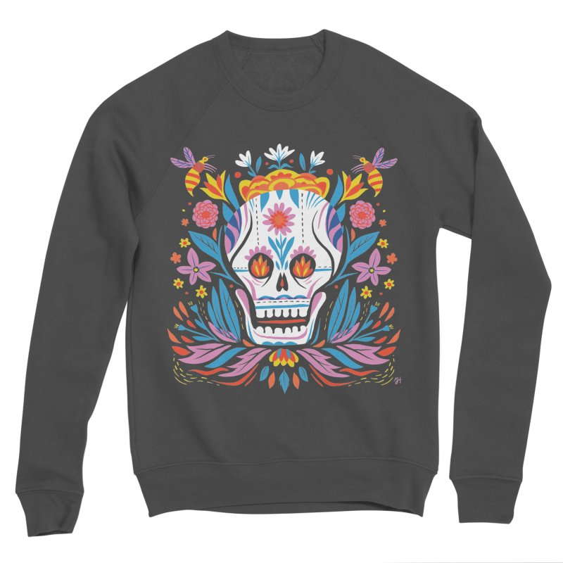 Día de los Muertos (night version) Men's Sponge Fleece Sweatshirt by Michael J Hildebrand's Artist Shop