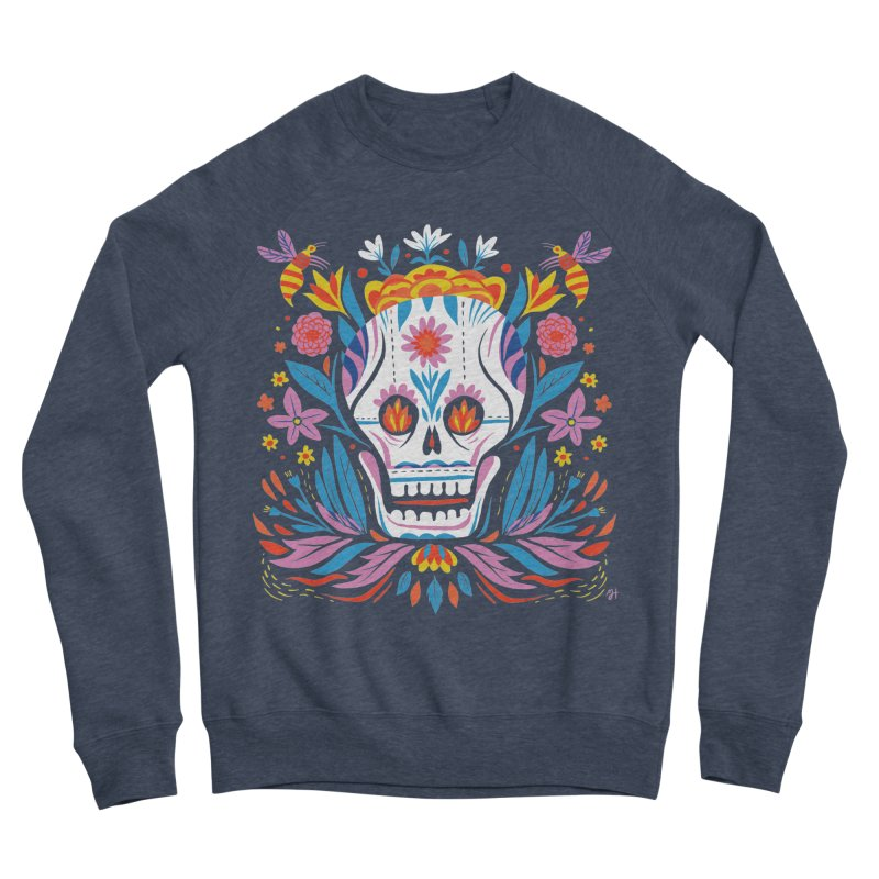 Día de los Muertos (night version) Women's Sponge Fleece Sweatshirt by Michael J Hildebrand's Artist Shop