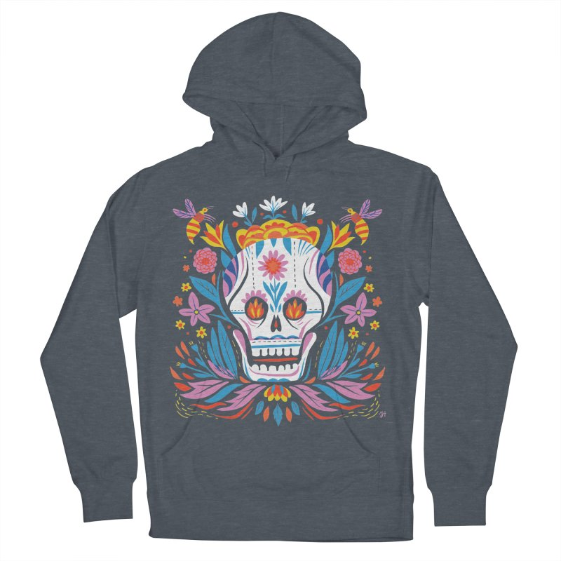 Día de los Muertos (night version) Women's French Terry Pullover Hoody by Michael J Hildebrand's Artist Shop