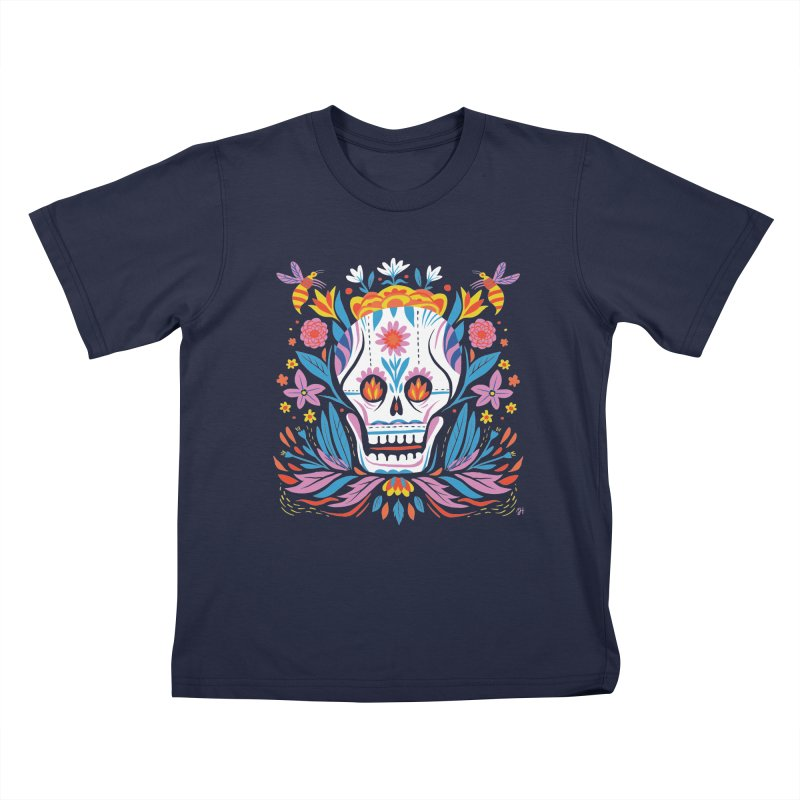 Día de los Muertos (night version) Kids T-Shirt by Michael J Hildebrand's Artist Shop