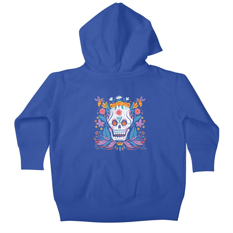 Día de los Muertos (night version) Kids Baby Zip-Up Hoody by michaeljhildebrand's Artist Shop