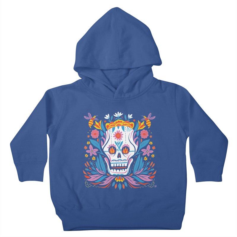 Día de los Muertos (night version) Kids Toddler Pullover Hoody by Michael J Hildebrand's Artist Shop
