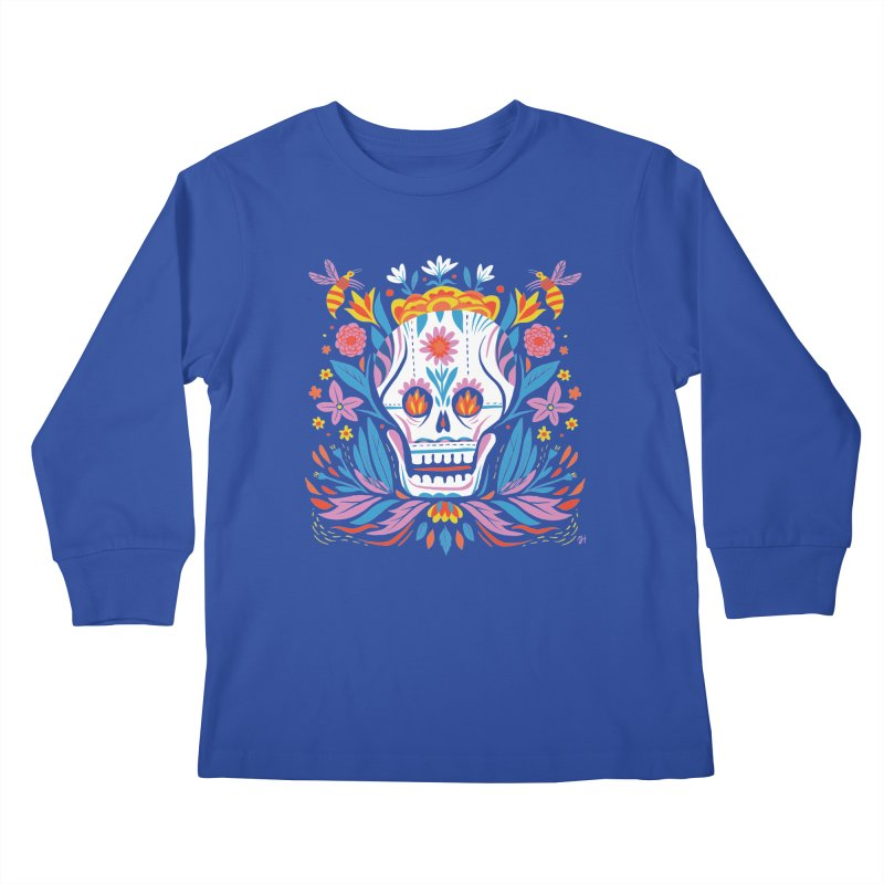 Día de los Muertos (night version) Kids Longsleeve T-Shirt by Michael J Hildebrand's Artist Shop