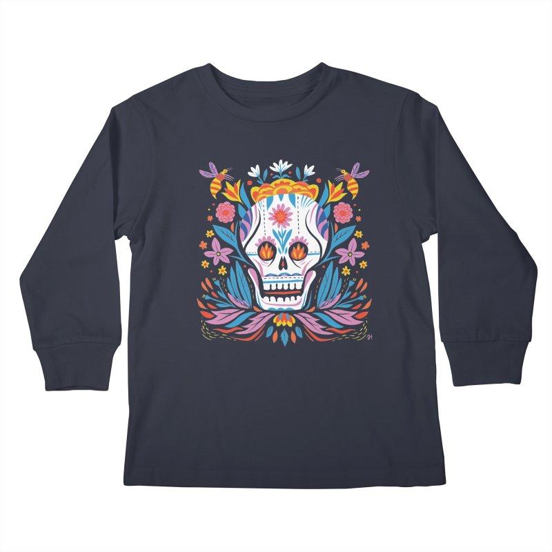 Día de los Muertos (night version) Kids Longsleeve T-Shirt by michaeljhildebrand's Artist Shop