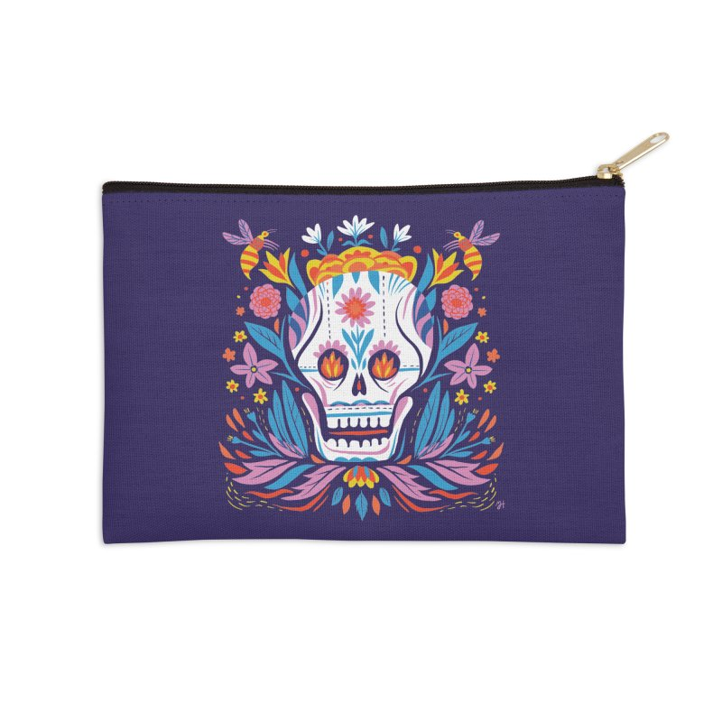 Día de los Muertos (night version) Accessories Zip Pouch by Michael J Hildebrand's Artist Shop