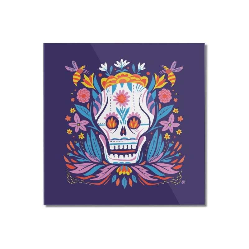 Día de los Muertos (night version) Home Mounted Acrylic Print by Michael J Hildebrand's Artist Shop