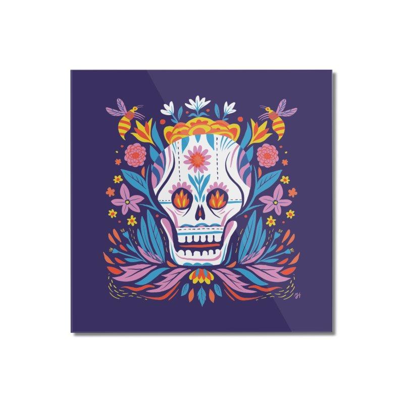 Día de los Muertos (night version) Home Mounted Acrylic Print by michaeljhildebrand's Artist Shop