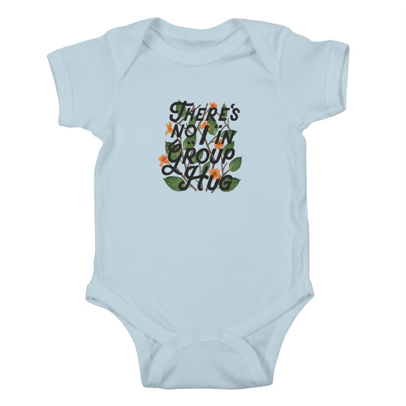 Group Hug Kids Baby Bodysuit by Michael Mohlman