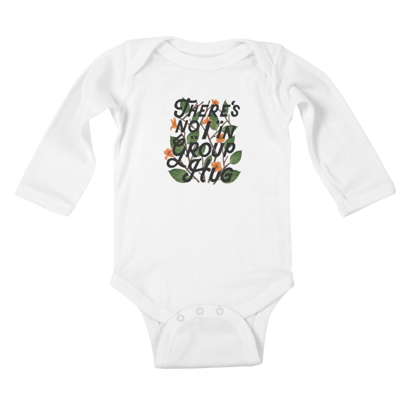 Group Hug Kids Baby Longsleeve Bodysuit by Michael Mohlman