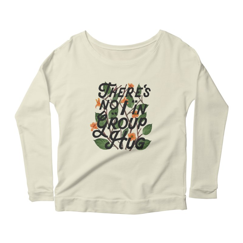 Group Hug Women's Scoop Neck Longsleeve T-Shirt by Michael Mohlman