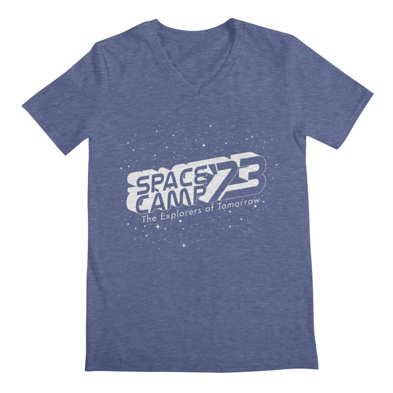 Space Camp '73 Men's V-Neck by Michael Mohlman