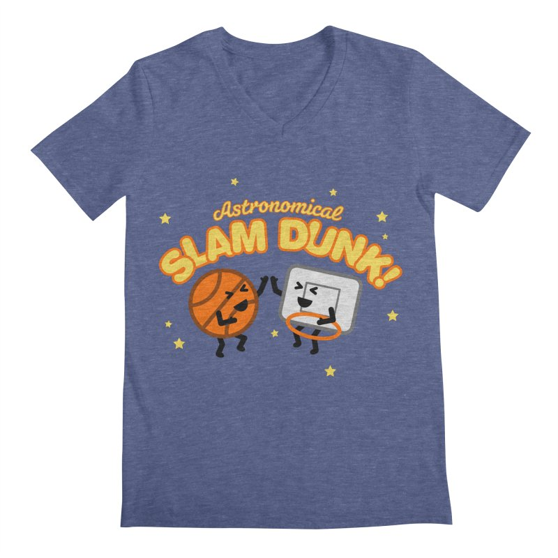 Astronomical Slam Dunk Men's Regular V-Neck by Michael Mohlman