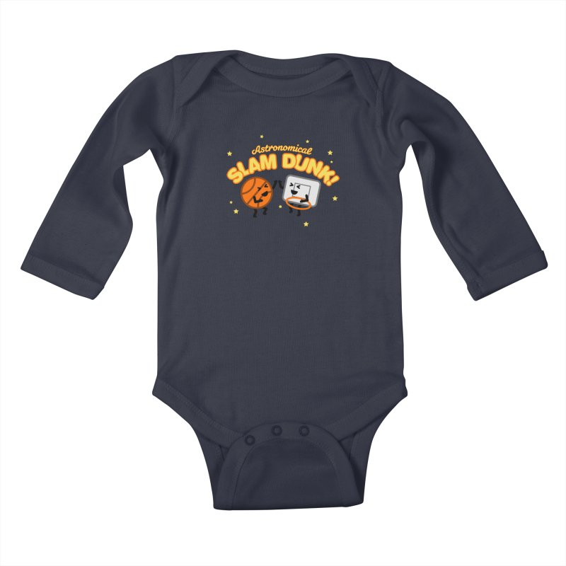 Astronomical Slam Dunk Kids Baby Longsleeve Bodysuit by Michael Mohlman