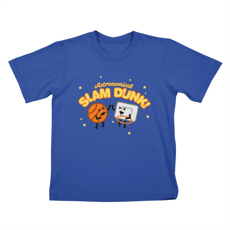 Astronomical Slam Dunk Kids T-Shirt by Michael Mohlman