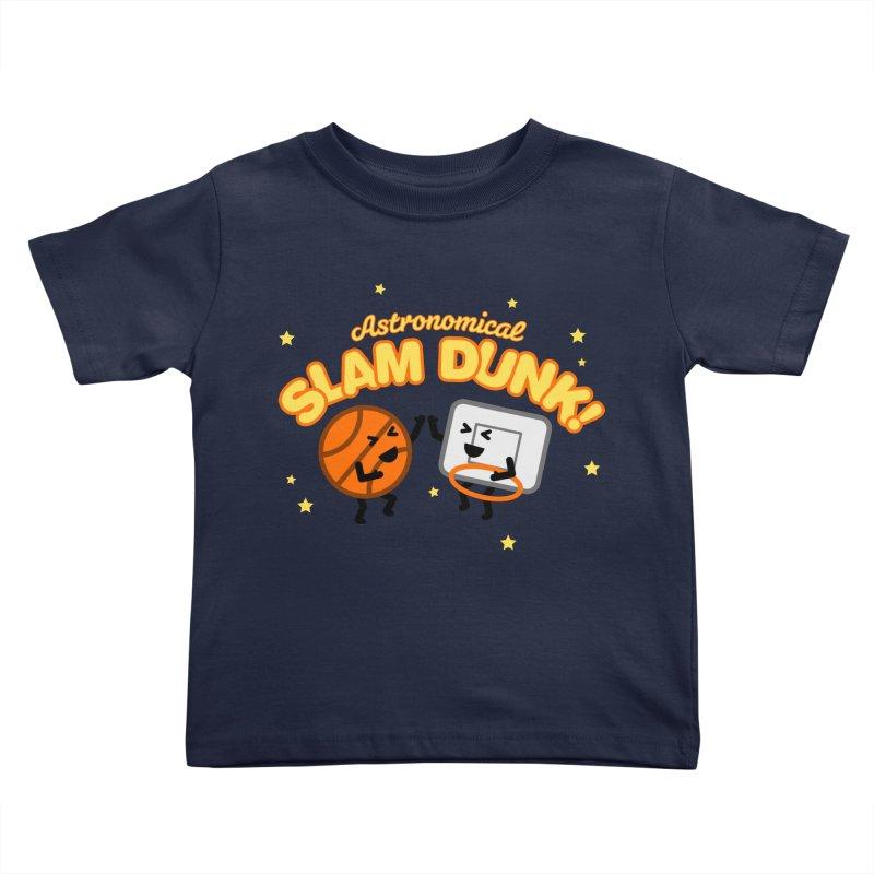 Astronomical Slam Dunk Kids Toddler T-Shirt by Michael Mohlman