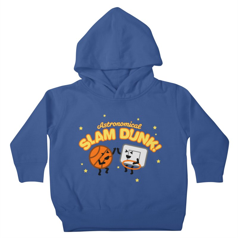 Astronomical Slam Dunk Kids Toddler Pullover Hoody by Michael Mohlman