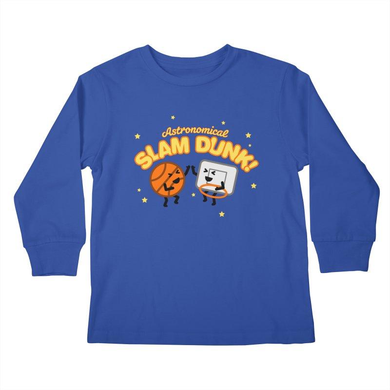 Astronomical Slam Dunk Kids Longsleeve T-Shirt by Michael Mohlman