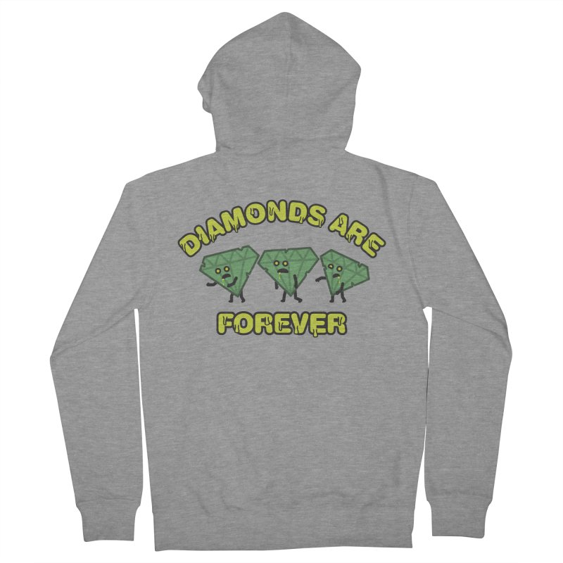 Diamonds Are Forever Men's Zip-Up Hoody by Michael Mohlman