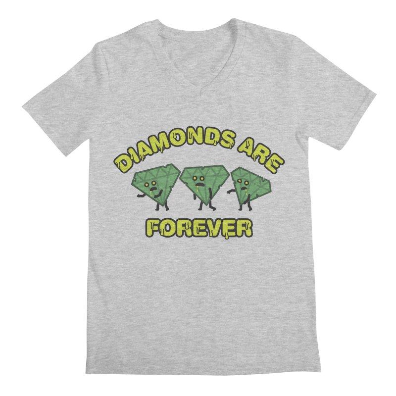 Diamonds Are Forever Men's V-Neck by Michael Mohlman