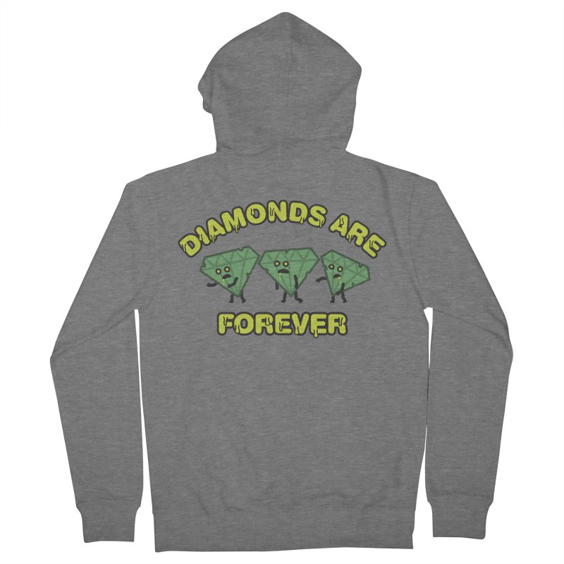 Diamonds Are Forever Men's French Terry Zip-Up Hoody by Michael Mohlman